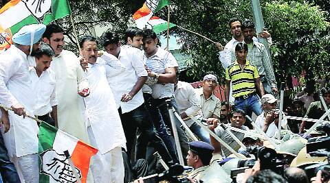 Congress protest over price rise