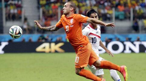 Wesley Sneijder almost didn't make the team for the 2014 Cup (Source: AP)