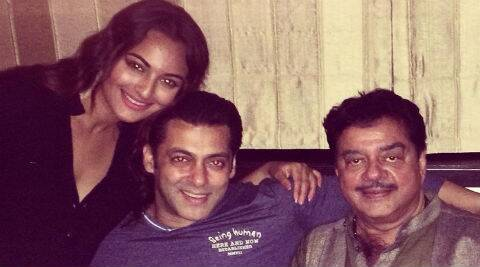 "Sonakshi on Twitter: ""Get your kick this eid!! Celebrations with @BeingSalmanKhan and @ShatruganSinha!"""