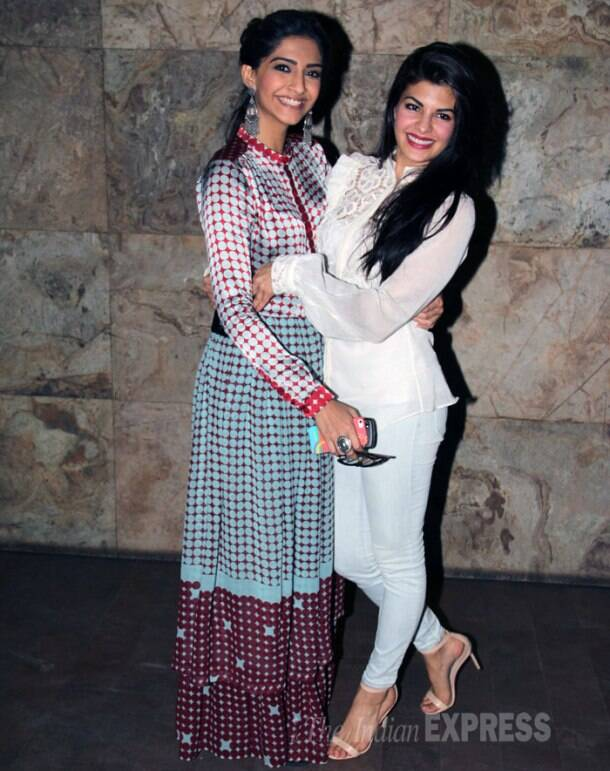 Sonam Kapoor watches friend Jacqueline Fernandez's 'Kick'