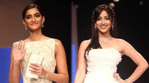 Sonam and Yami dazzled the ramp donning glittering pieces from Rio Tinto's 'Nazraana' collection.