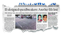 'Killer' speedbreakers: In a first, PCMC to pay Rs 5-lakhaid