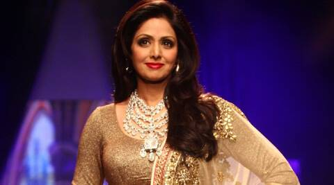 Sridevi donned a gold lehenga and choli teamed with an elaborate raani haar.