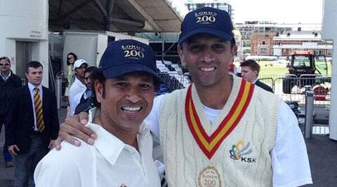 Tendulkar (L) and Dravid (R) will take the field together on Saturday. (Source: Twitter)