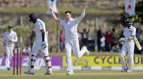 It was the 23rd five-wicket haul in 73 Tests for Steyn, who gained appreciable reverse swing to rip through the middle order after taking two wickets in the first session. (Source: AP)
