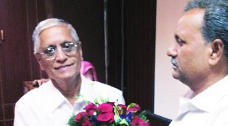 Prof Yellapragada Sudershan Rao, who headed Kakatiya University's history department, has been appointed by the new government as chairman of the Indian Council of Historical Research. Source: Express Photo
