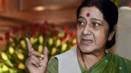 Swaraj  held a similar session with Heads of Mission from the Middle East in Delhi. (Source: PTI photo)