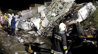 TransAsia Airways plane crashes in Taiwan, 47 feared dead