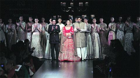 Alia Bhatt and Aditya Roy Kapoor with Manish Malhotra