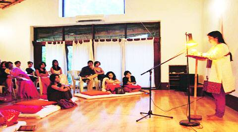 Tall Tales' first workshop in Delhi had participants tell real-life stories.