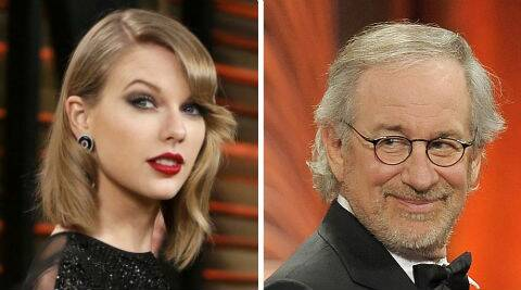 Taylor Swift meets with Steven Speilberg (Source: AP)