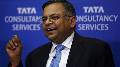 N. Chandrasekaran, chief executive of Tata Consultancy Services Ltd (TCS). (Reuters)