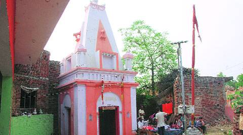 The temple at the centre of the row