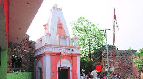 The temple at the centre of the controversy.(Gajendra yadav)