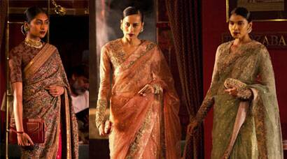 Sabyasachi weaves sari magic on first day of India Couture Week