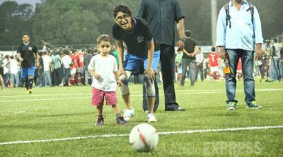 PHOTOS: Aamir Khan's youngest son Azad Rao plays football with mum Kiran