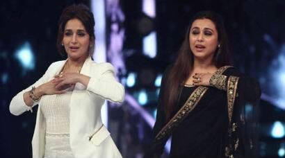 Newly married Rani Mukerji shakes a leg with Madhuri Dixit on 'Jhalak'