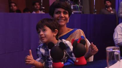 Mandira Bedi's fun outing with son Vir