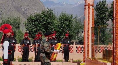 Army Chief  at 15th anniversary of Kargil War Vijay Diwas