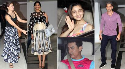 Aamir, Alia, Jacqueline, Sonam party with Karan Johar