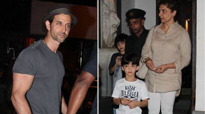 PHOTOS: Hrithik Roshan takes sons out for pizza treat with their daadi