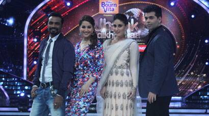 PHOTOS: Kareena Kapoor's 'Singham Returns' with Madhuri, Karan and 'Jhalak'