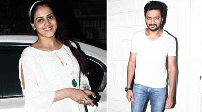Heavily pregnant Genelia D'Souza watches husband Riteish's 'Lai Bhaari'