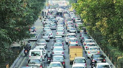 A traffic jam in Noida.(Source: Express Archive)