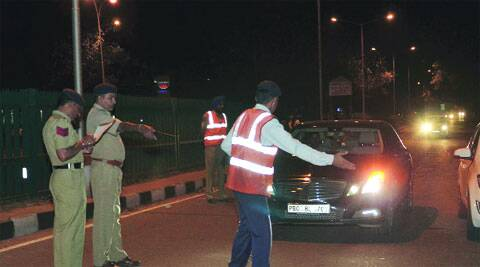 Till June 24, 2,154 people have been challaned for driving with headlights on high beam. (Source: Express photos)