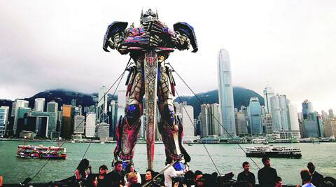 "Representatives of a scenic area in southwest China are threatening to sue producers of ""Transformers: Age of Extinction"" for failing to show its logo in the Hollywood blockbuster."