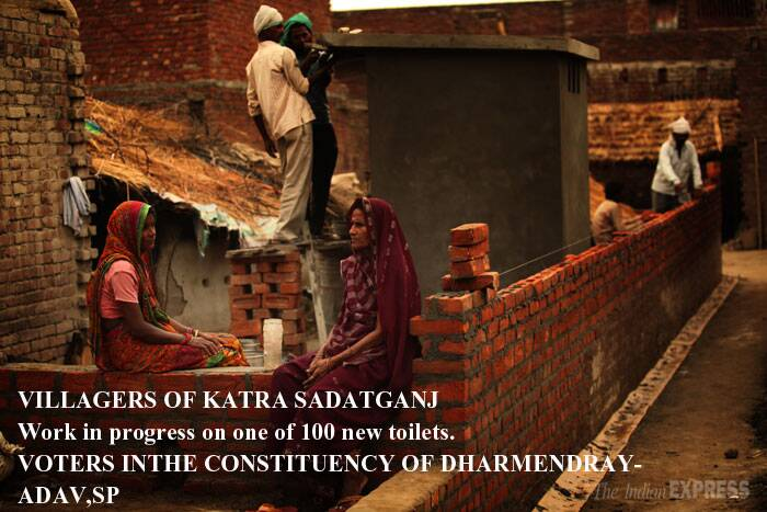 "53.7% 403 of 750 families in Katra Sadatganj have no access to toilets and defecate in the open, according to NGO Sulabh International's UP head Avinash Kumar. <br />Jagdish 'Pandit', as he is locally known, watches a toilet being built in his house, one of 100 under construction in Katra Sadatganj village. He hasn't had to depend on the budget; these are being built by an NGO.<br /> This is the village where two girls were allegedly raped and murdered after going out to relieve themselves. Sulabh International then declared that it was ""adopting"" the village and building 100 toilets.<br /> (Reported by Sumegha Gulati, Express photo by Tashi Tobgyal)"