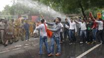 Students protest in Delhi