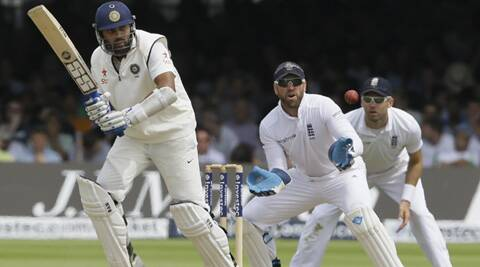 Vijay felt agonizingly short of his hundred as he was dismissed by Anderson for 95. (Source: AP)