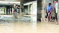 53.4 mm rainfall leads to waterlogging