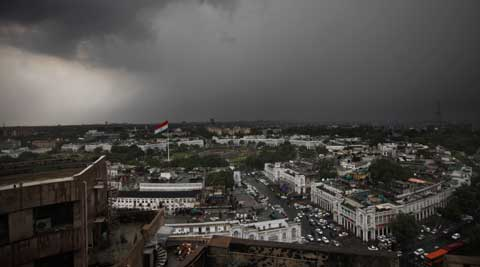 Weatherman has pridicted partly cloudy sky throughout the day and rain and thundershowers in some parts of the city. (Source: AP)