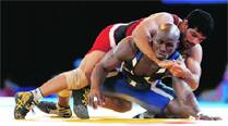 Indian wrestlers dominate best day at CWG