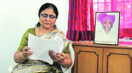 Rajni Patil at her home in Jalgaon. (Express Photo: Sushant Kulkarni)