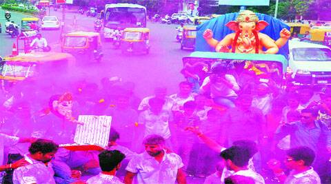People carry out a procession in Ahmedabad on Friday. (Source: PTI)