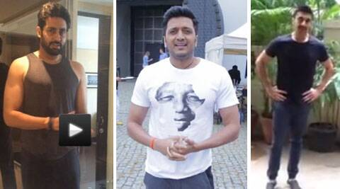 Abhishek Bachchan, Riteish Deshmukh  and Ashish Chowdhary took the Ice Bucket Challenge.