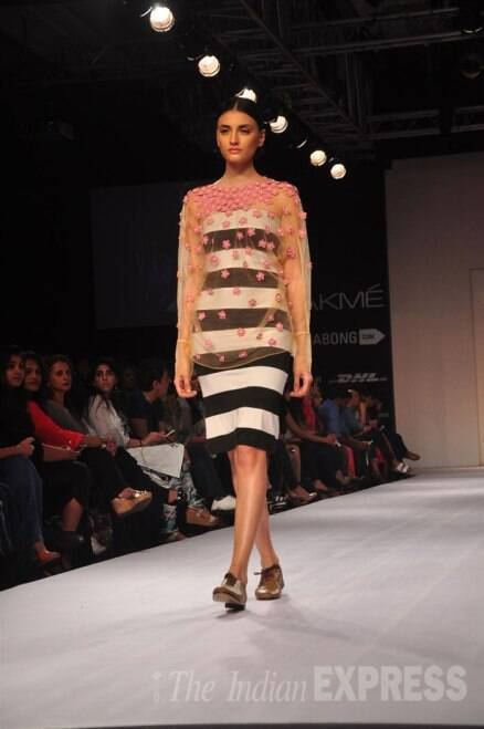 Traditional outfits with a twist ruled second day of Lakme Fashion Week