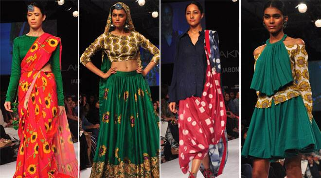 The second day of Lakme Fashion Week Winter/Festive 2014 saw some interesting experiments in Indian wear (Source: Varinder Chawla)