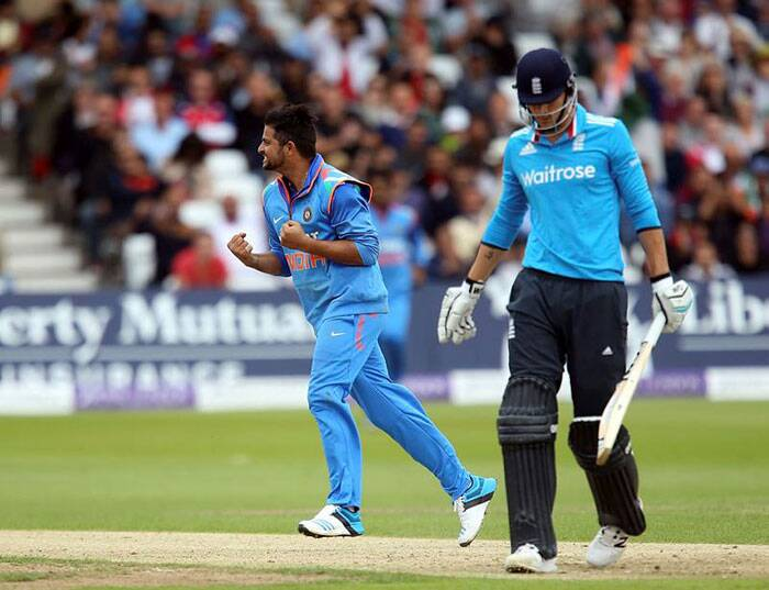 Suresh Raina, broke the partnership as he had Hales caught behind  by MS Dhoni. (Source: AP)