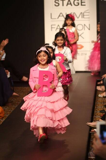 Little fashionistas enliven ramp on the second day of LFW