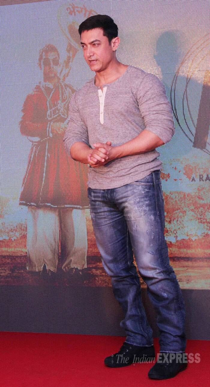 Aamir Khan told reporters at the event that his 'PK' is one of his favourite films in his long 25 years in the industry. (Source: Varinder Chawla)