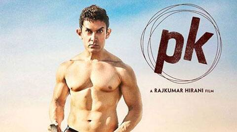 Aamir Khan tweeted the first poster of the movie which shows the actor covering his modesty with a mere stereo.