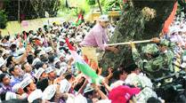 At rally, AAP targets BJP for 'running away from polls'