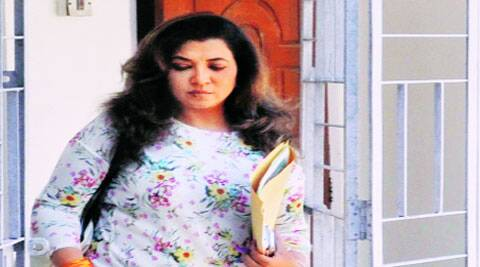 Manoranjana Singh after her house was raided by CBI, in Guwahati Friday.(Source: PTI)