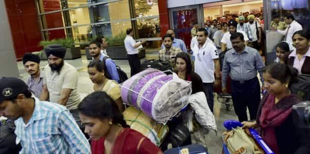 Indians stranded in Libya reach Delhi