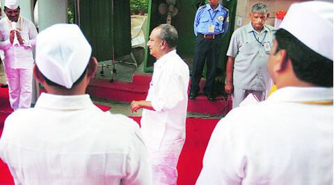 A K Antony at the AICC headquarters on Friday.