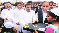 Govt works overtime  to distribute 46,000 leftover free laptops